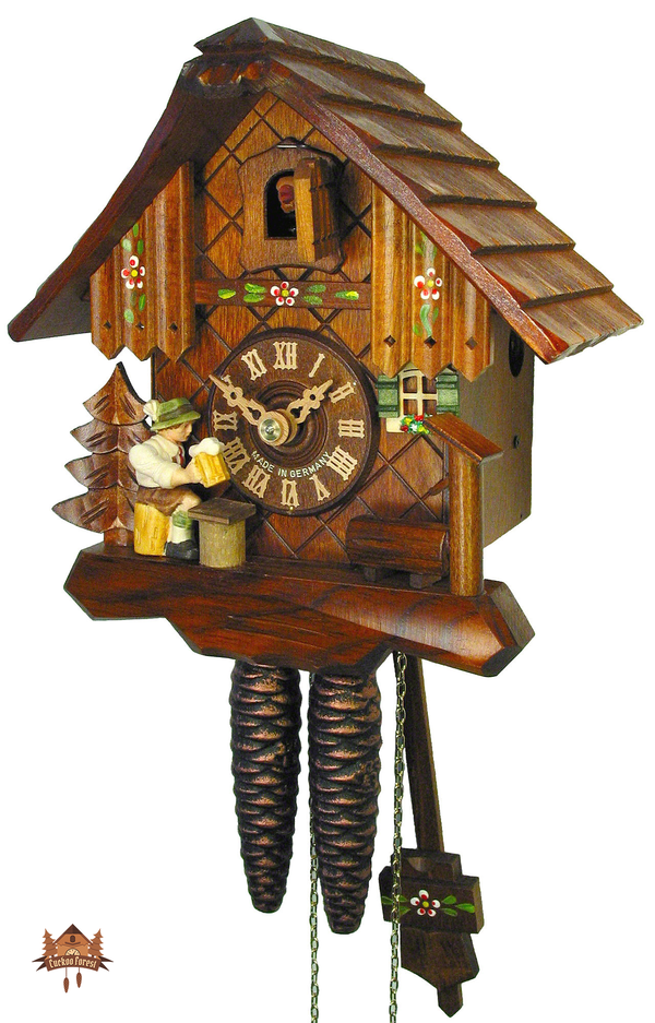 Cuckoo Clock 1-day-movement Chalet-Style 20cm by August Schwer - German Cuckoo Clocks
