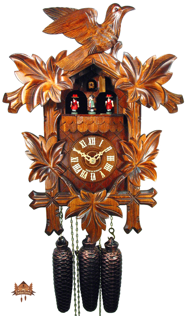 Cuckoo Clock 8-day-movement Carved-Style 41cm by August Schwer - German Cuckoo Clocks