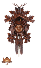 Cuckoo Clock 8-day-movement Carved-Style 60cm by August Schwer - German Cuckoo Clocks