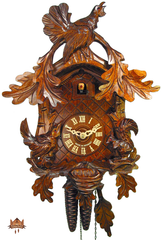 Cuckoo Clock 1-day-movement Carved-Style 36cm by August Schwer - German Cuckoo Clocks