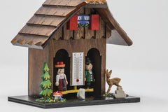 German Weather House - 6 Inch Dark - German Cuckoo Clocks
