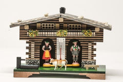 German Weather House - Wide Farmhouse - German Cuckoo Clocks