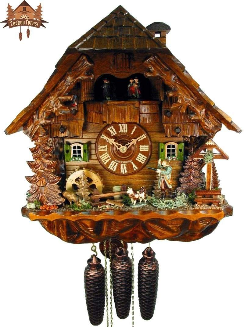 Cuckoo Clock 8-day-movement Chalet-Style 40cm by August Schwer - German Cuckoo Clocks