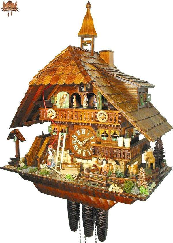 8 Day Musical Chalet Clock of the Year 2007 Pony Ranch 22.8 inches