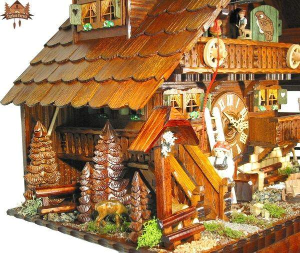 8 Day Musical Chalet Clock of the Year 2007 Pony Ranch 22.8 inches - German Cuckoo Clocks