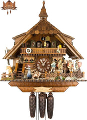 Cuckoo Clock 8-day-movement Chalet-Style 47cm by August Schwer