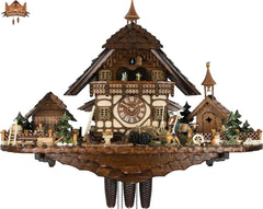 8 Day Clock of the Year Musical Chalet Clock Farm House 25.6 inches