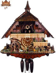8 Day Musical Chalet Clock Farm Stead 25.6 inch
