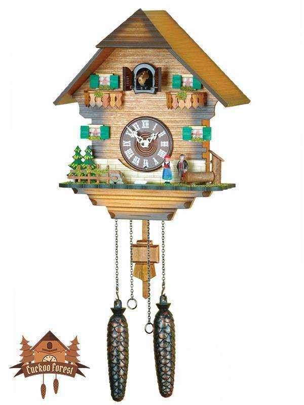 Quartz Cuckoo Clock Black Forest Costume Couple, 12.6inch Quartz Cuckoo Clocks - German Cuckoo Clocks