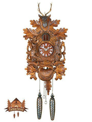 Quartz Carving Cuckoo Clock Hunting Clock, 13.8inch Quartz Cuckoo Clocks - German Cuckoo Clocks