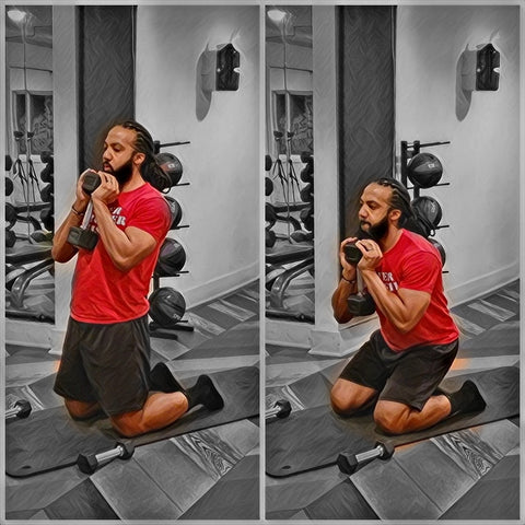 FSW Workouts: Kneeling Dumbbell Squats