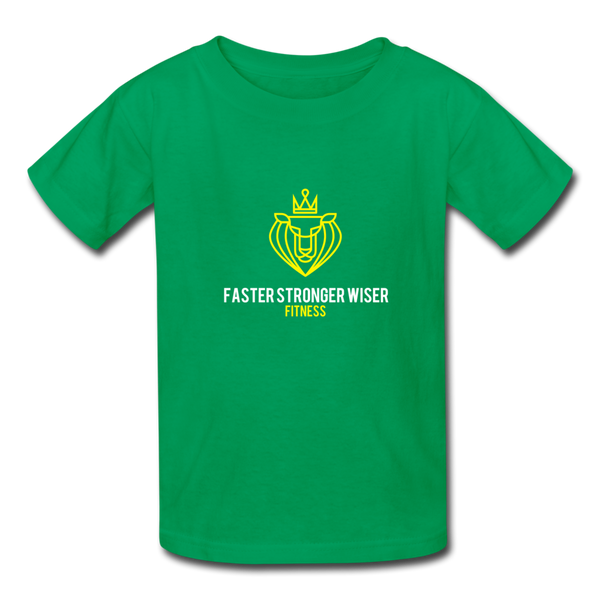 Faster Stronger Wiser Kids' T-Shirt - kelly green
