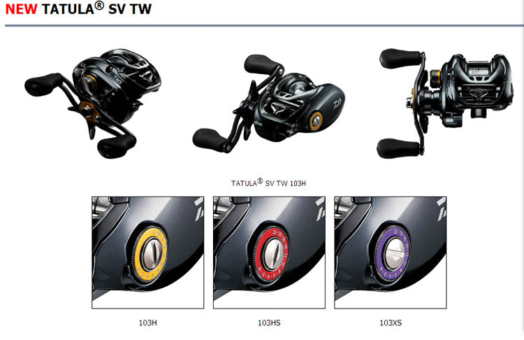101c6f40ccf 2017 MODEL DAIWA TATULA SV TW Low Profile Fishing reel 7+1BB TWS SV CONCEPT  ...