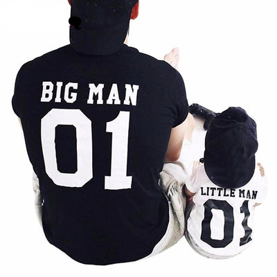 Big Man & Little Man - Father & Son Matching T-Shirts