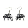 Vintage Tibetan Elephant Dangle Earrings