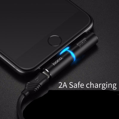 2 IN 1 LIGHTNING EARPHONE AUDIO JACK ADAPTER AND POWER CHARGER FOR IPHONE 7 / 7 Plus