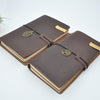Exceptional Vintage Leather Notebook Journal with Surprise Charm