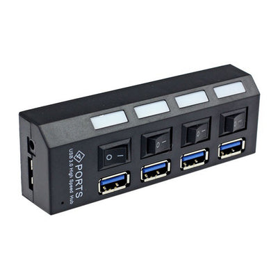 Mini USB 3.0 4 Port Hub with On/Off Switch