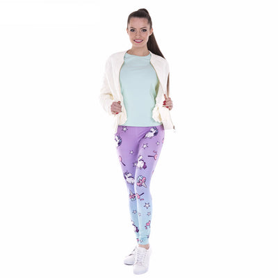 One Size Magical Unicorn Print Leggings