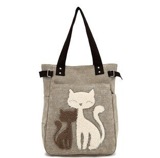 Misty & Ginger Cute Cat Tote Bag