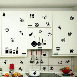 Removable Kitchen Cabinet Label \ Stickers