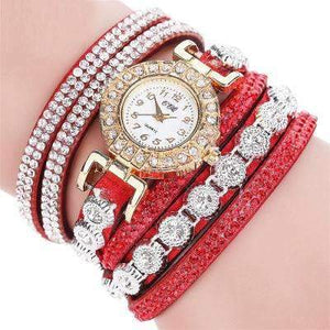 CCQ Rhinestone Analog Bracelet Watch