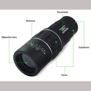 16 x 52 Dual Focus Optic Lens Monocular Telescope