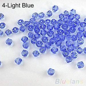 Hot sale 100pcs Loose Glass Crystal Bicone Spacer Beads 4mm