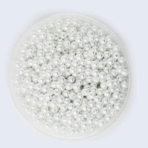 4-20mm Pearl Cabochon Round White Ivoyy Pearl Imitation ABS Beads