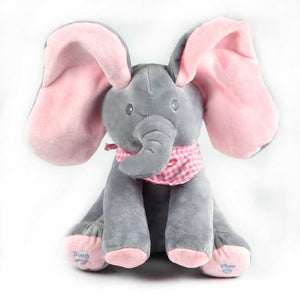 Peek A Boo Stuffed Elephant Plush Toy, Sings and Plays Hide And Seek