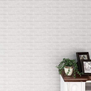 Self Adhesive 3D Foam Brick Wall Stickers/Wallpaper