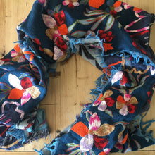 Namaskar Meino wool and silk scarf hand embroided