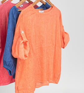Linen top by jump clothing at Berrima's Overflow Berrima's Wool Centre