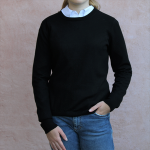 Bridge and Lord merino wool and cashmere classic crew neck