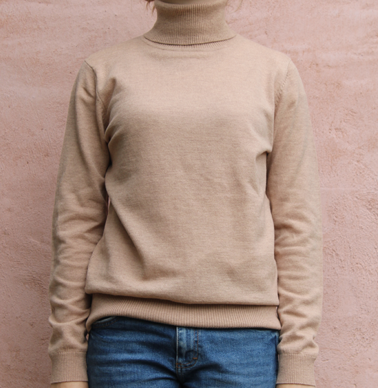 Merino and cashmere polo neck from Bridge and Lord