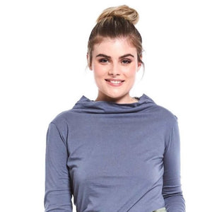 Relaxed Neck Skivvy Steel