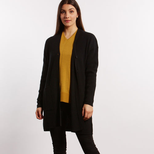 Fields Knitwear long ribbed cardigan