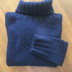 Chunky Australian Merino Wool Roll Neck Scottish Knitwear at Berrima's Overflow