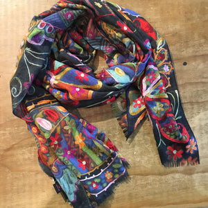 Namaskar Meino wool and silk scarf