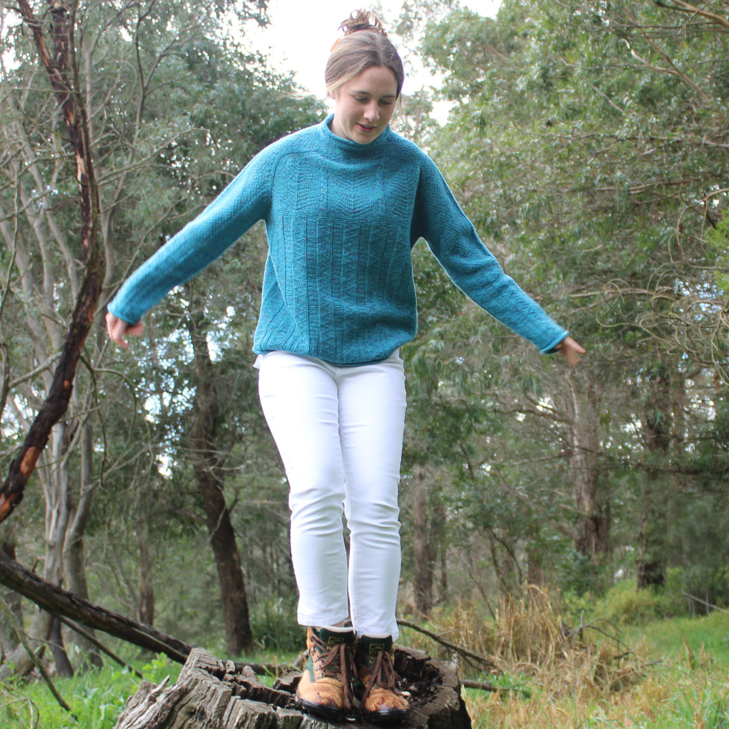 Australain Merino Wool Aran Jumper Scottish Knitwear