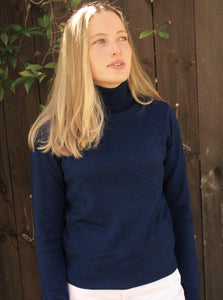 Classic Roll Neck - Navy - Bridge and Lord