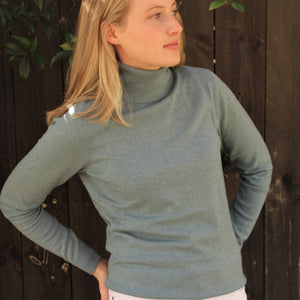 Bridge and Lord Merino and cashmere roll neck