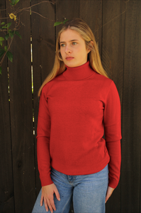 Classic Roll Neck - Red - Bridge and Lord