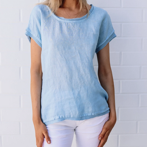 Harris Cotton Line Gauze Top