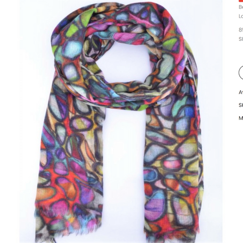 Namaskar Wearable Art Scarf Merino and silk