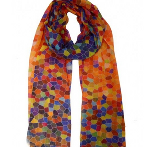 Wearable Art Wool and Silk Multi Sisley like Dots
