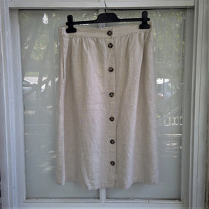 Linen skirt jump clothing