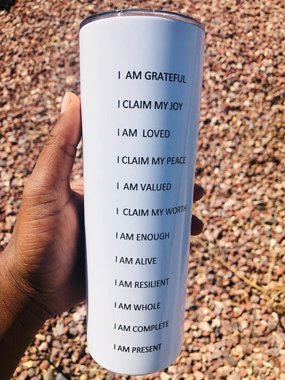 Daily affirmation tumbler - www.moinasiashop.com