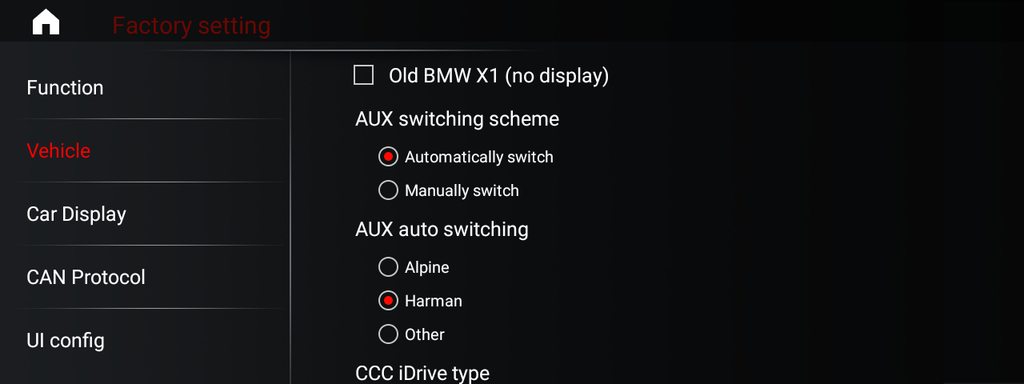 Menu of BMW android 9 New ID 7 style – eWaying - Android
