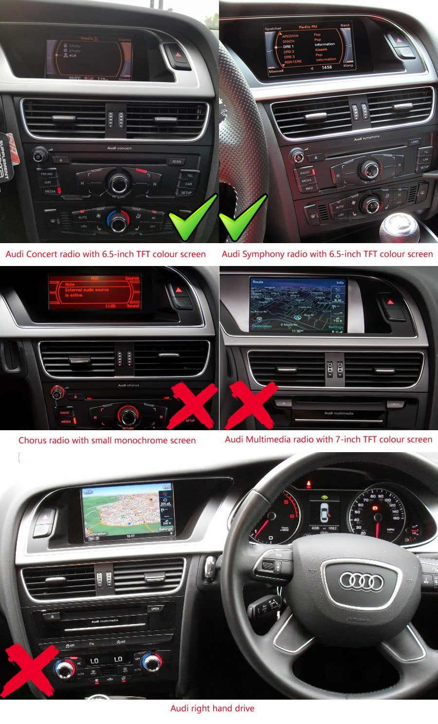 How to install navi on AUDI A4 Q5 and frequently asked